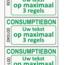 CombiCraft Consumptiebonnen met tekst en nummering in het zwart gedrukt op lichtgrijs papier per 1000 stuks