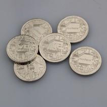 Staal vernikkelde VIP-munten, 100 stuks