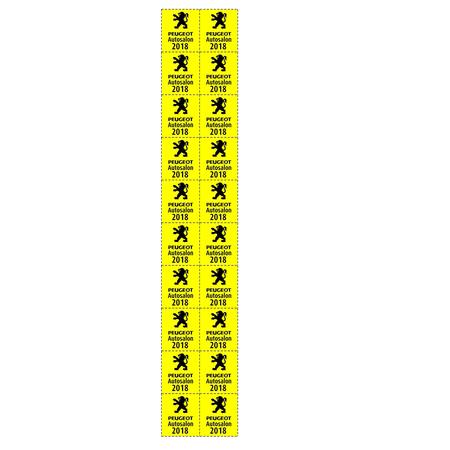 CombiCraft Consumptiebonnen Klein 25x27.5mm op strips Full Colour bedrukking 1000 stuks