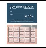 CombiCraft Consumptiekaarten bedrukken Eigen Ontwerp optioneel met nummering Full Colour 84x54mm per 100 kaarten