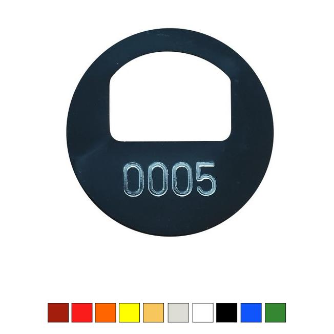 CombiCraft Garderobemunt Ø 38 mm incl. gat 22x16mm en nummering