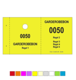 CombiCraft Garderobebonnen in boekjes met ophanggat en jouw eigen tekst per 1000 bonnen