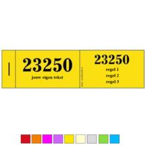 Mini Dubbelnummers of Lootjes met eigen tekst