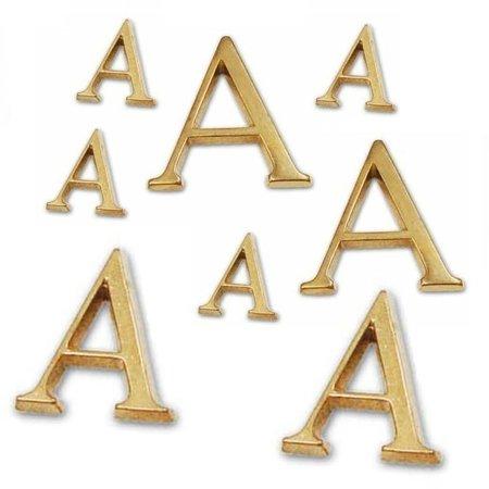 CombiCraft 3D letters en cijfers van glanzend gegoten messing 50mm hoog, 3mm dik