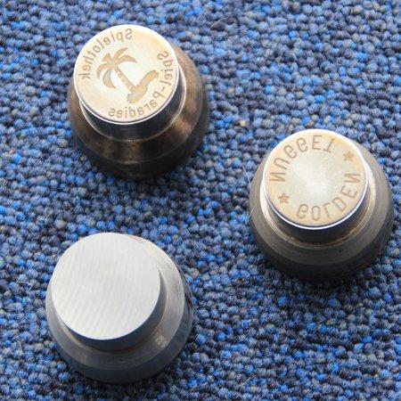 CombiCraft Metalen slagmunt als logoplaatje met of zonder  gat