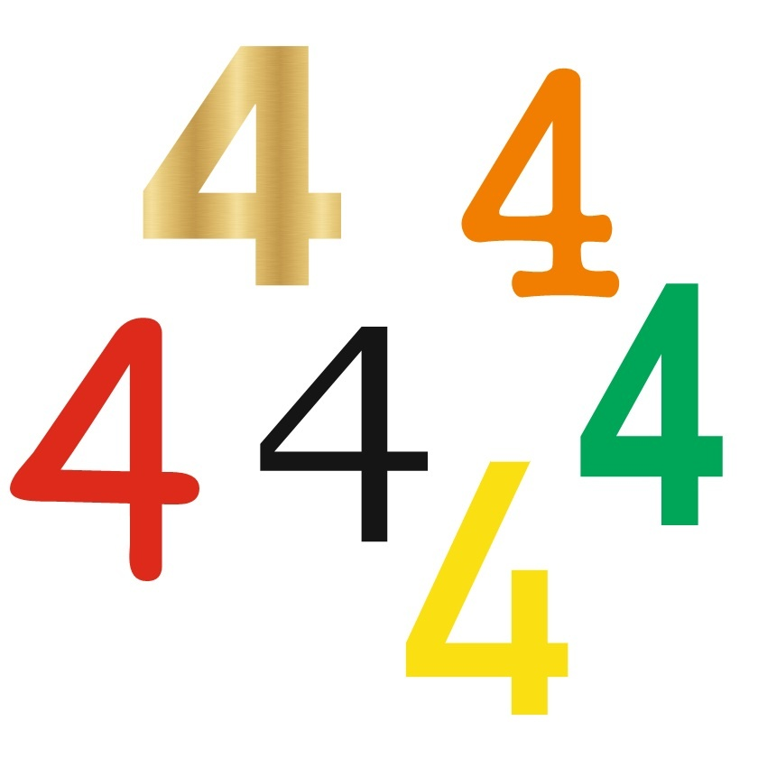 CombiCraft Losse Cijfers in 3D van Acrylaat (kunststof) in vele groottes te selecteren