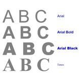 CombiCraft 3D letters en cijfers van gesatineerd RVS Edelstaal van 40 tot 300 mm grootte in vier verschillende lettertypes