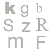 3D letters en cijfers van RVS-Look  Aluminium