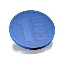 250 Plastic Consumptiemunten,  1 Coin,