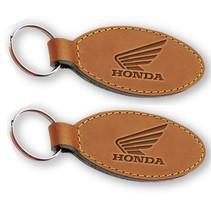 Leren sleutelhanger HONDA met jouw logo en tekst
