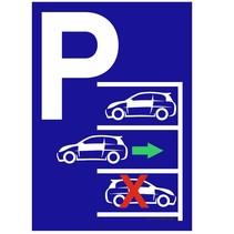 Parkeerplaats achteruit inparkeren