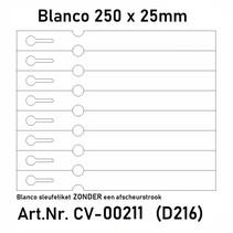 Sleufetiketten 2000 st. Laserprinter 250x25mm