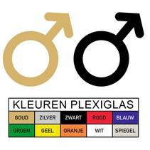 WC pictogram MAN in Plexiglas