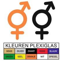 WC pictogram MAN en VROUW in Plexiglas