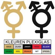 WC pictogram GENDERNEUTRAAL in Plexiglas
