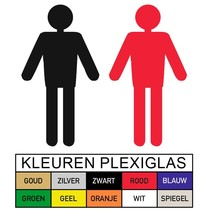 Toilet pictogram HEREN in Plexiglas (Rex)