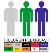 Toilet pictogram HEREN in Plexiglas (PB1)