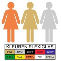 Toilet pictogram DAMES in Plexiglas (PB1)
