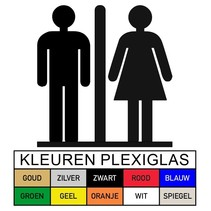 Toilet pictogram HEREN-DAMES in Plexiglas (PB1)