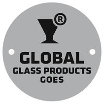 Aluminium logoplaatje Ø50mm bedrukt 2 gaatjes