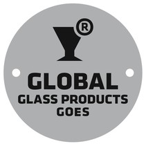 Aluminium logoplaatje Ø50mm bedrukt