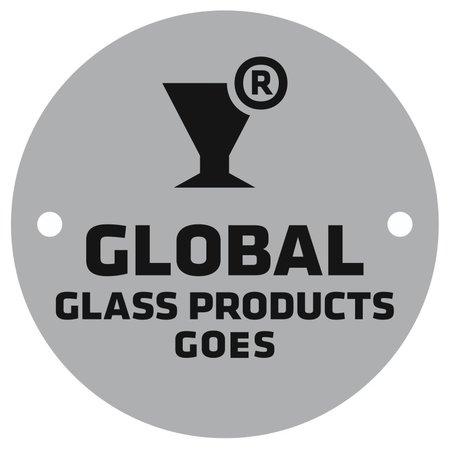 CombiCraft Aluminium logo plaatje Ø50mm met jouw logo op zilverkleurig of wit aluminium gedrukt  2 gaatjes