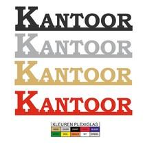 Uitgesneden bordje KANTOOR in Plexiglas