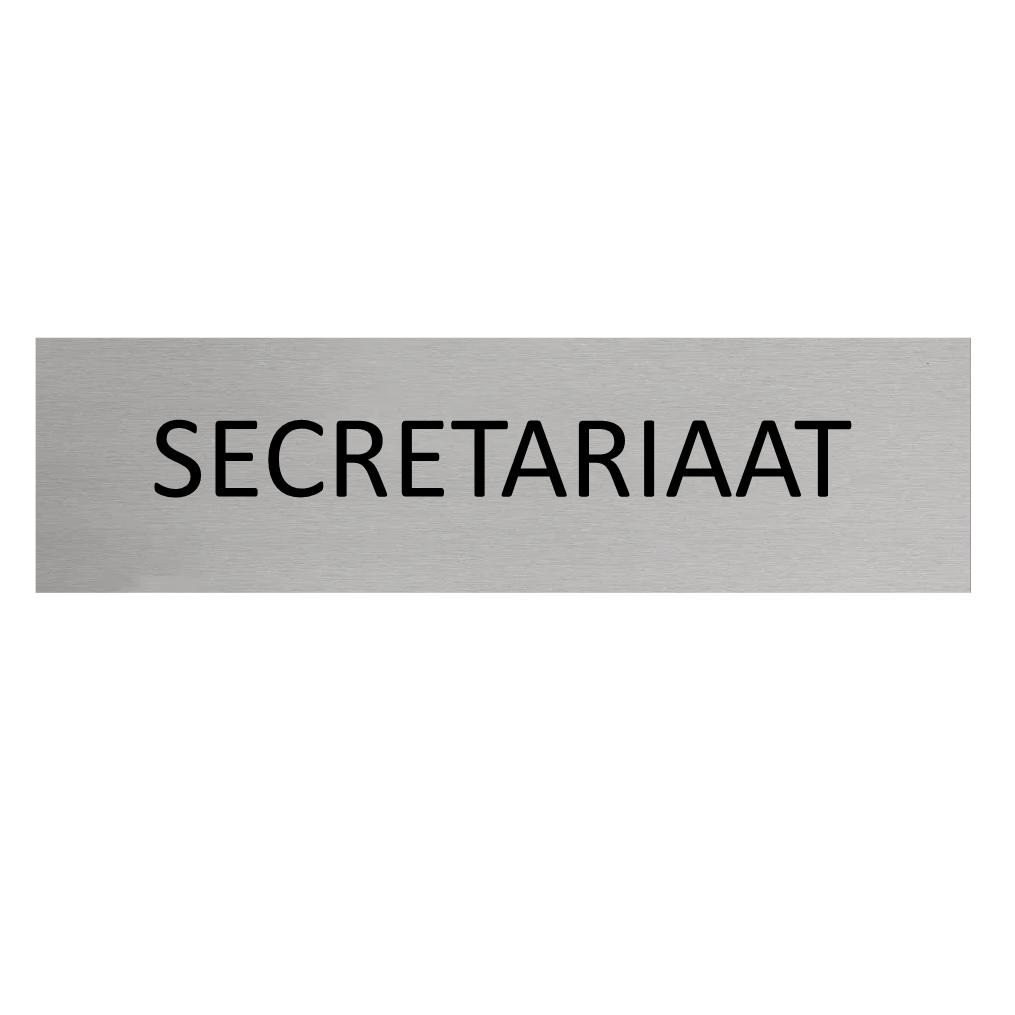 CombiCraft Aluminium Deurbordje Secretariaat 165x45mm met tape