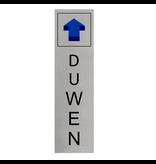 CombiCraft Aluminium Deurbordje Duwen (staand) 165x45mm met tape