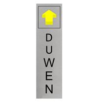 Aluminium Deurbordje Duwen (staand)