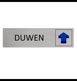 CombiCraft Aluminium Deurbordje Duwen 165x45mm met tape