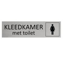 Aluminium Deurbordje Dames kleedkamer met toilet