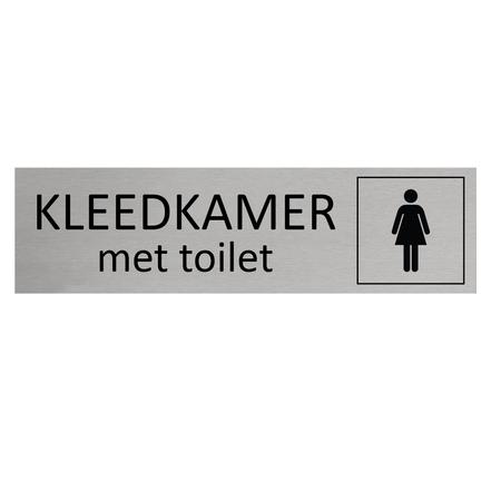 CombiCraft Aluminium Deurbordje Dames kleedkamer met toilet 165x45mm met tape