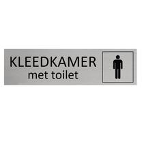 Aluminium Deurbordje Heren kleedkamer met toilet