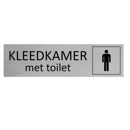 CombiCraft Aluminium Deurbordje Heren kleedkamer met toilet 165x45mm met tape