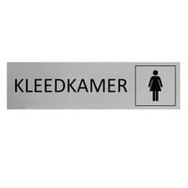 Aluminium Deurbordje Kleedkamer vrouw symbool