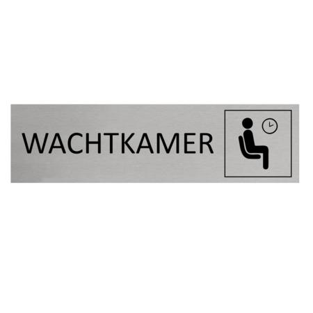 CombiCraft Aluminium Deurbordje Wachtkamer 165x45mm met tape