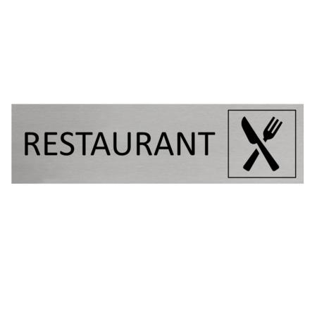 CombiCraft Aluminium Deurbordje Restaurant 165x45mm met tape