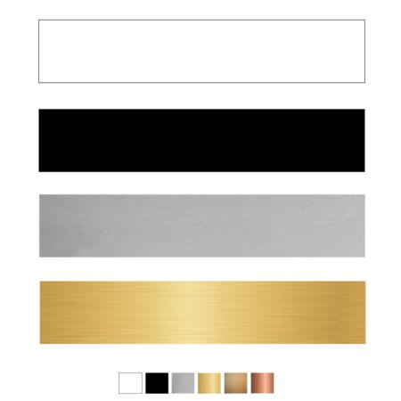 CombiCraft Blanco Kunststof Oostwoud Naamplaatjes voor bij bel, briefkast of brievenbus
