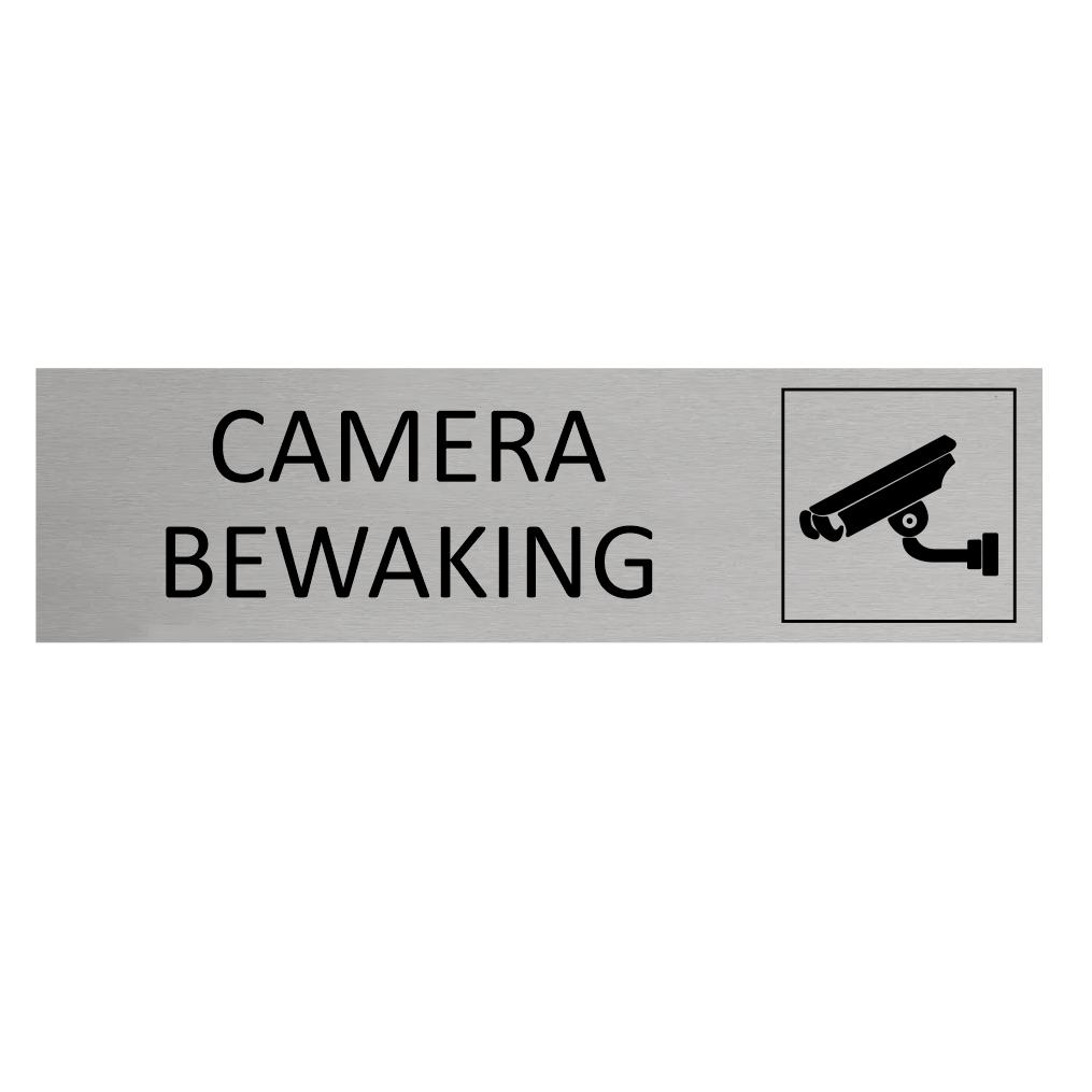 CombiCraft Aluminium Deurbordje Camerabewaking 165x45mm met tape