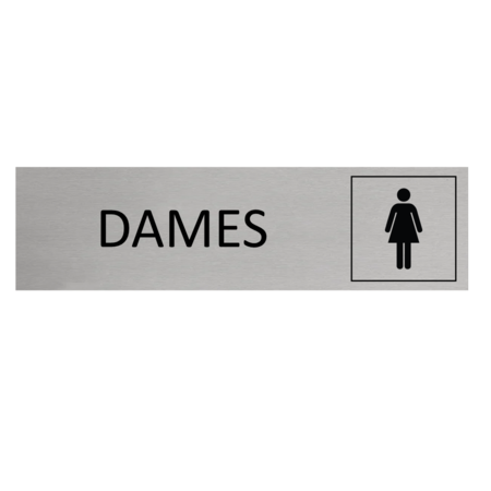 CombiCraft Aluminium Deurbordje Dames 165x45mm met tape