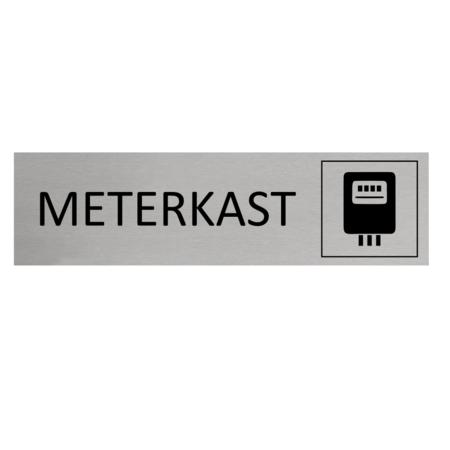 CombiCraft Aluminium Deurbordje Meterkast 165x45mm met tape
