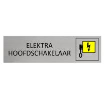 Aluminium Deurbordje Elektra Hoofdschakelaar