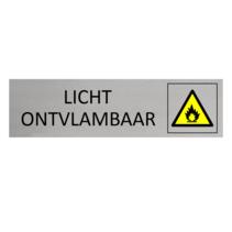 Aluminium Bordje Licht Ontvlambaar