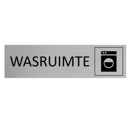 CombiCraft Aluminium Deurbordje Wasruimte 165x45mm met tape