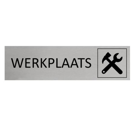 CombiCraft Aluminium Deurbordje Werkplaats 165x45mm met tape