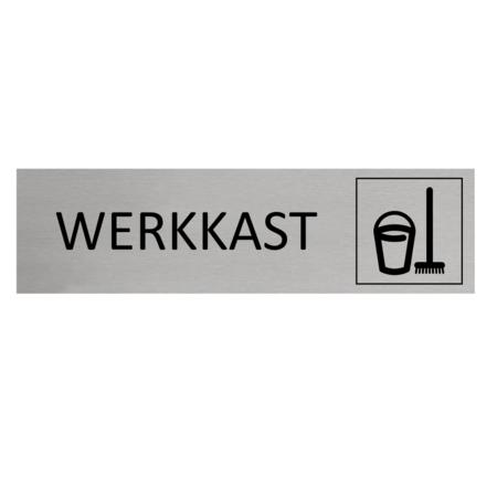 CombiCraft Aluminium Deurbordje Werkkast / Schoonmaak 165x45mm met tape