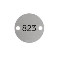 Aluminium Rond Zilver met 2 gaatjes L+R