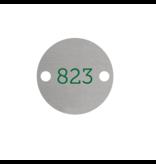 CombiCraft Nummerplaatjes Aluminium Zilver Rond ½mm dik met gekleurde bedrukking en 2 gaatjes links en rechts