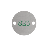 Aluminium Rond Zilver bedrukt 2 gaatjes L+R